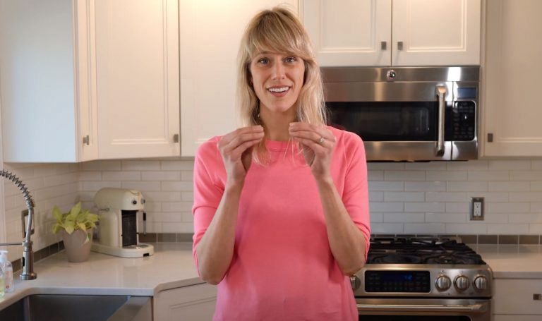 Jessica Rolph, Co-founder and CEO of Lovevery, standing in a kitchen