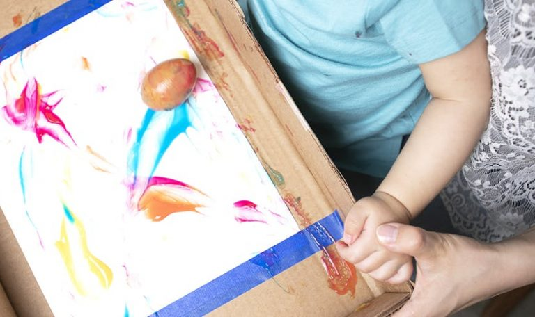Painting with an egg