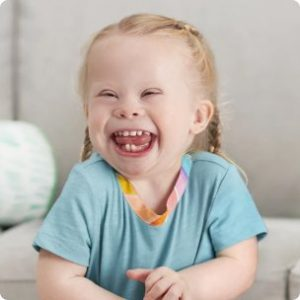 Toddler with a big smile