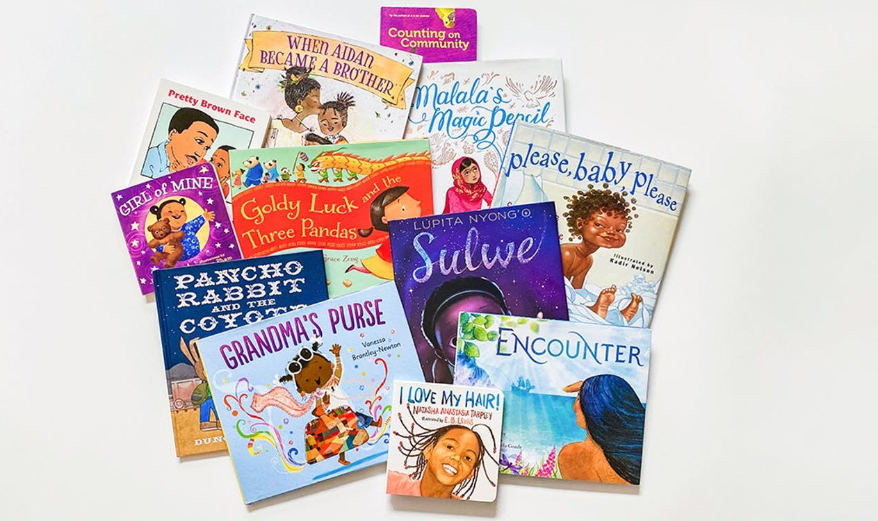Stack of books and resources to show children the beauty in differences