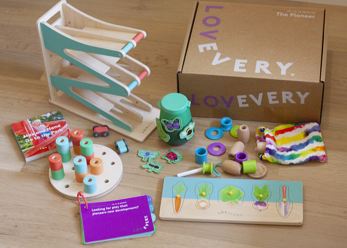 What's inside The Pioneer Play Kit by Lovevery